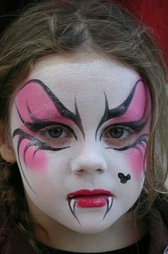 Girls vampire face paint make | http://paintbodyideas.blogspot.com ...