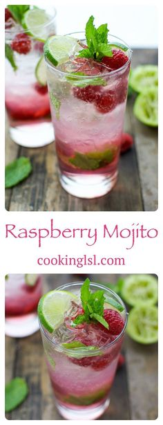This raspberry mojito is sweet and refreshing, ready in under 5 minutes. This raspberry mojito is sweet and refreshing, ready in under 5 minutes. The perfect drink to serve at a party or just enjoy by yourself. via Cooking LSL Party Drinks, Fun Drinks, Yummy Drinks, Alcoholic Drinks, Beverages, Beach Drinks, Mixed Drinks, Tapas, Beste Cocktails
