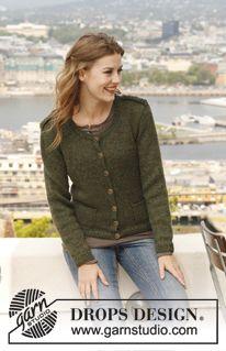 Knitted DROPS jacket in 2 threads Alpaca. Size: S - XXXL. ~ DROPS Design