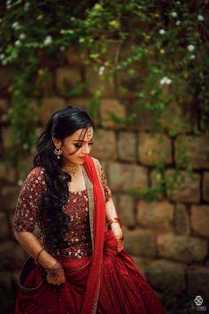 Lehenga Choli Wedding, Half Saree Lehenga, Designer Bridal Lehenga, Lehanga Saree, Sarees, Kerala Engagement Dress, Engagement Dresses, Bride Reception Dresses, Bridal Party Dresses