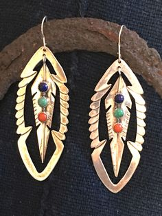 Navajo Earrings Sterling Silver Feather Cut Out – Yourgreatfinds