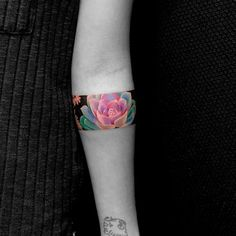 Colorful lotus armband by Fiu Tran