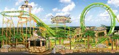 Looping-Achterbahn Cobra im Freizeitland Geiselwind kommt als Neuheit 2015 in den fränkischen Freizeitpark. Sie bleibt allerdings nur für eine Saison - sie ist vom Schausteller  Agtsch angemietet.
