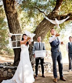Bird Themed Wedding Ideas - Dove release