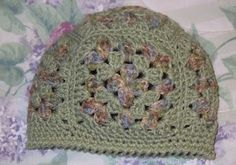 Easy granny square beanie pattern