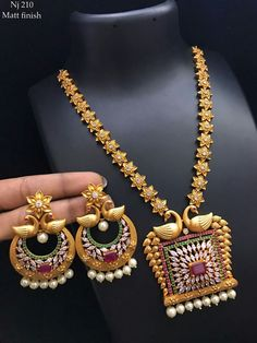 Beautiful long haaram with star design. Long haaram studded with multi color stones. Long haaram with swan design pendant. Gold Jewellery Design, Gold Jewelry, Jewelry Sets, Gold Necklace, Jewelry Logo, Swarovski Jewelry, Bridal Necklace, Dainty Jewelry, Opal Jewelry