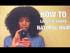 ▶ How to cut layers & shape natural hair | LHDC-TV - YouTube