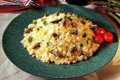Receta de Arroz con espárragos trigueros en http://www.recetasbuenas.com/arroz-con-esparragos-trigueros/ Descubra la mejor forma de preparar deliciosos platos de arroz con ingredientes sanos y naturales.Añada a su plato espárragos para disrutar de todo el sabor  #recetas #Tapas