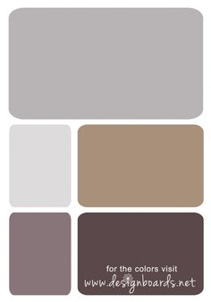 Color Board: Purple and Brown | Design Boards I've been trying to figure out if i can pull off grey and purple in the same room as beige - for a bathroom...this is closest to the colors i've found
