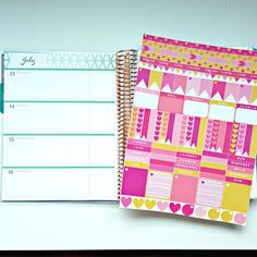 81 Printable Pink and Gold Planner Stickers - Erin Condren Horizontal Layout - Digital Download by LilyBeaches on Etsy