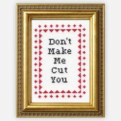 Don't Make Me Cross-Stitch Kit