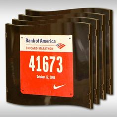 Wall Frames for running bibs - Pretty cool!