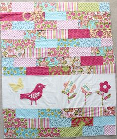 Custom This Girl's Quilt  Toddler or Baby Quilt by VibrantlyBlue, $78.00