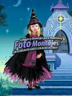 Fotomontaje Infantil Bruja