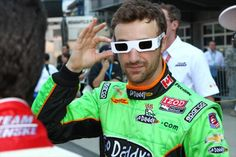 James Hinchcliffe in Dan Wheldon Memorial Sunglasses During Drive Introductions at the #Indy500