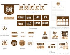 30th Birthday Beer Tasting Printable by JacksMaster on Etsy