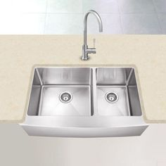 Costco: Hahn? Farmhouse Stainless Steel 60/40 Double Bowl Sink
