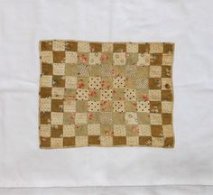 Rocky Mtn Quilts DQ182 Cotton Squares Doll Quilt 1885, PA