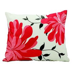 Mina Victory Floral Outdoor Throw Pillow
