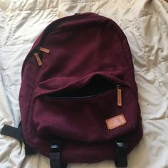 Vans maroon fabric backpack Looks small but actually holds more than it looks! Used it three times at most. Zipper and straps both in perfect condition and is very sturdy Vans Bags Backpacks Vans Backpack, Backpack Bags, Diaper Backpack, Cute Backpacks, School Backpacks, My Bags, Purses And Bags, Mochila Adidas, Vans Bags