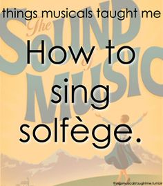 Everybody had trouble with it in high school. Except me because I learned this whole musical when I was four. So I'm lame; tell me something I don't know!