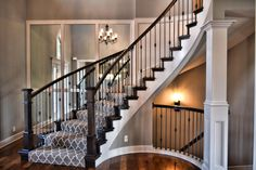 2 Story Entry, Curved Stairs, Mirrored Entry, Entry Stairway, Entry Lighting, Stairway, Circle Stairs, Entryway, Hardwood Entry