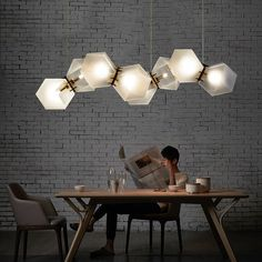Mordern Nordic LED Bulb Light Chandelier Loft Fashion Adjustable Art milk white glass Ceiling Lamp Fixture Light 8 Lamp L100cm
