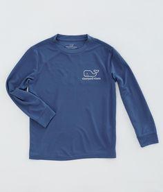 Boys T-Shirts:Boys Long-Sleeve Performance Graphic T-Shirt - Vineyard Vines