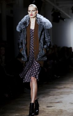 love the layers w/parka