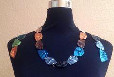 #Collar y #pendientes de conchas con #cápsulas de #café #nespresso  #DIY #HOWTO #Artesanía #manualidades #reciclaje