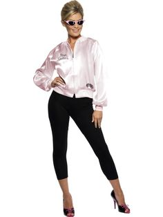 BLOUSON ROSE PINK LADY GREASE TAILLE M Grease Pink Ladies Jacket 12fa98c30fcf1