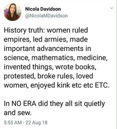 I think they did this then came home and sewed and took care of either their husbands or fathers house Women In History, Ancient History, Smash The Patriarchy, Modern History, British History, American History, Native American, Intersectional Feminism, Equal Rights