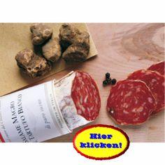 Diese magere Salami duftet nach frischen weißen Trüffeln. Hier klicken:  http://blogde.rohinie.com/2013/01/trueffel/ #Italien #Toskana #Trueffel #Salami #Schweinefleisch