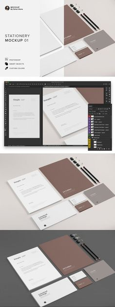 Branding Stationery Mockup 01 #highresposter #package #iphone #templates #shop #blank #print #MockupTemplate #psd #template #foil #citydisplaybundle #shadows #coffee #visualization #MockupTemplates #mockup #mockups #holidays Mockup Templates, Letterhead Template, Business Templates, A4 Paper, Presentation, Stationery, Branding, Rainbow Print, Iphone