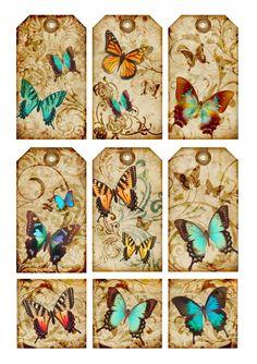 Sheet tags Butterfly | Sheets | Nostalgie & Brocante