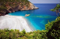 Petali beach in North Evia Greece Places In Greece, Exotic Beaches, Greece Travel, Wonderful Places, Amazing Places, Greek Islands, Beautiful Beaches, Beautiful Landscapes, Beautiful World