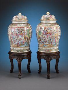 Chinoiserie, Large Floor Vase, Oriental Decor, Oriental Furniture, Art Asiatique, Art Nouveau, Chinese Ceramics, Antique China, Ginger Jars