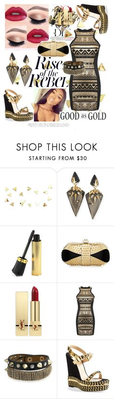 """""""Rebel Chic"""" by brittanyyoung-ii ❤ liked on Polyvore featuring Alexis Bittar, Christian Louboutin, Yves Saint Laurent, Pilot and Bling Jewelry"""