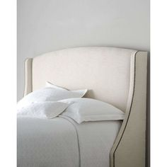 Bernhardt Felix Queen Headboard (70.975 RUB) ❤ liked on Polyvore featuring home, furniture, beds, light brown, nailhead headboard, nailhead trim headboard, handmade furniture, queen headboard and hand made furniture