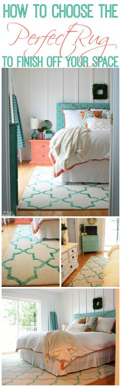 That Rug Pattern. Finishing Off Our Master Bedroom with a New Rug {& Tips for Choosing the Perfect Rug} - The Happy Housie Home Bedroom, Master Bedroom, Bedroom Decor, Bedroom Ideas, Home And Deco, Bedroom Styles, My New Room, Beautiful Bedrooms, Room Inspiration