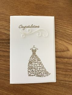 Stampin' Up! Gold embossed wedding card