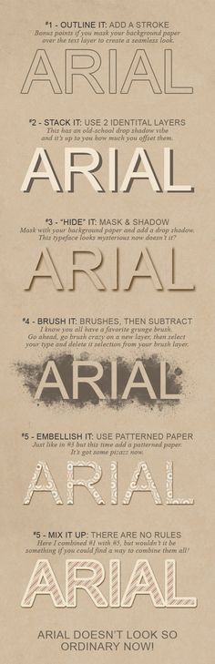 different ways to use fonts