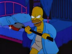 Homer with an axe! #pic