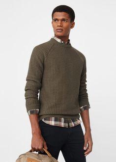 Camisola manga comprida raglã | MANGO MAN