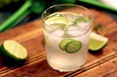 Cucumber Gin Cooler  This refreshing update on the classic gin & tonic is an easy sipper, thanks to summery cucumber slices and plenty of lime juice. A note on the cucumber slices: it may be tempting to nibble them out of your drink right away, but try to resist the urge. After several minutes' contact with the lime juice, gin, and sweet tonic water (about as long as it takes to finish the drink) they pickle ever so slightly, taking on a lovely crisp flavor.