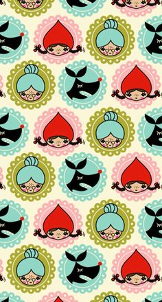 My wallpaper app just conjured this up. Source unknown but I love it. Wallpaper Fofos, Wallpaper App, Pattern Art, Pattern Designs, Surface Pattern, Patterns, Toot, Red Riding Hood, The Conjuring