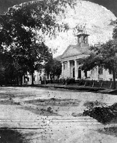 St. John's Episcopal Church in Tallahassee. The church was built in 1837/38 on the northeast corner of Monroe and Call streets by John Lavinus for $10,000. It burned on January 19, 1879. | Florida Memory