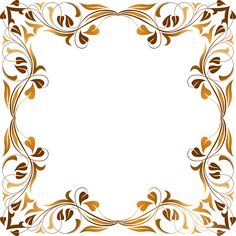 Floral Flourish Frame 6 by @GDJ, Floral Flourish Frame 6, on @openclipart
