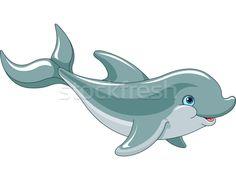Swimming Dolphin  - ilustração de vetor por Anna Velichkovsky (Dazdraperma) - Stockfresh #2963200