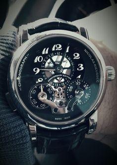 Montblanc Nicolas Rieussec mono-pusher chronograph in white gold Ltd no. 57/90
